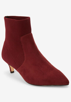 The Mya Bootie by Comfortview®, BURGUNDY