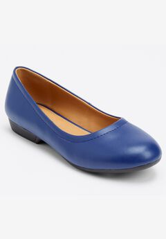 Julie Leather Flat by Comfortview® ,