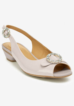 The Raven Slingback by Comfortview®, NUDE