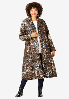Printed Long Coat, CLASSIC ANIMAL