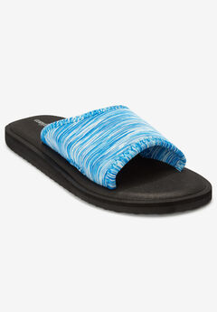 The Ive Soft Footbed Sandal by Comfortview®, BLUE MULTI