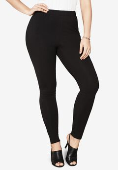 Ankle-Length Essential Stretch Legging, BLACK