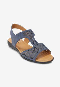 The Inez Sandal by Comfortview®, DARK DENIM