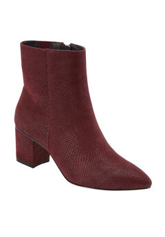 The Loreli Bootie by Comfortview®, BURGUNDY