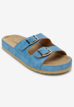 The Maxi Footbed Sandal by Comfortview®, DENIM BLUE
