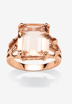 Rose Gold-Plated & Sterling Silver Cocktail Ring,