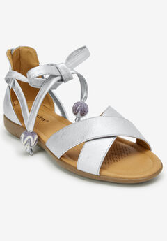 The Beckett Sandal by Comfortview®, SILVER