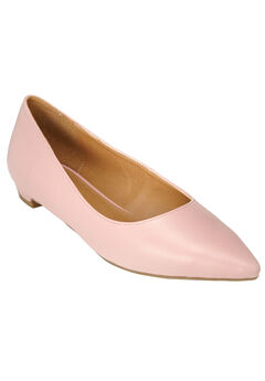 Olive Leather-Like Flat by Comfortview®, ROSE MIST