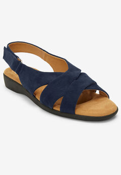 The Finn Sling Sandal by Comfortview®, NAVY