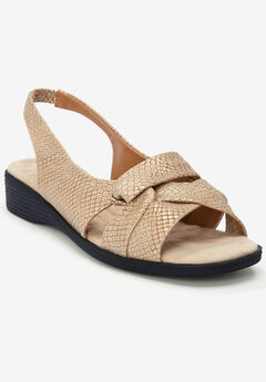 The Pearl Sandal by Comfortview®, GOLD