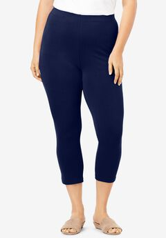 Essential Stretch Capri Legging, NAVY