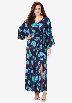 Crinkle Belted Maxi Dress,