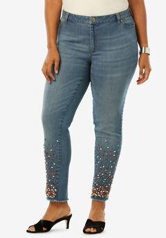 Fringe Embellished Skinny Jean by Denim 24/7®, MULTI EMBELLISHMENTS