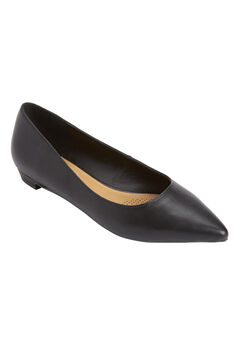 Olive Leather-Like Flat by Comfortview®,