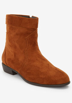 The Noel Bootie by Comfortview®, COGNAC
