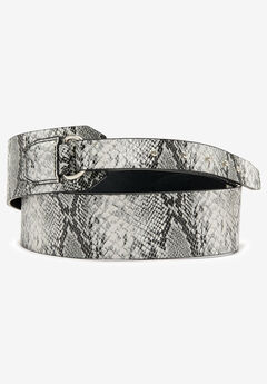 Studded Hidden Close Belt, GREY SNAKE