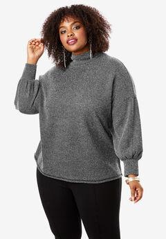 Mockneck Pullover Top,