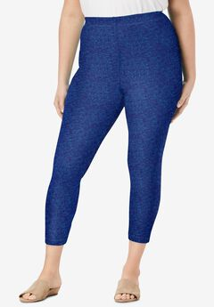 Essential Stretch Capri Legging, NAVY GRAPHIC TEXTURE