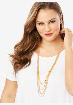 Multi-Strand Beaded Necklace,