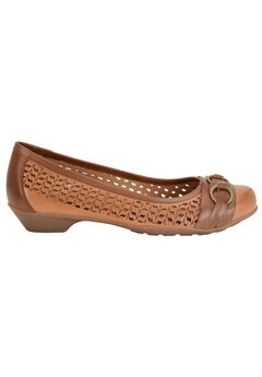Posie Leather Flat by Softspots®,