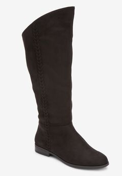 The Tinley Wide Calf Boot , BLACK