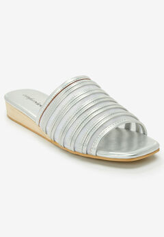 The Callista Sandal by Comfortview®, SILVER