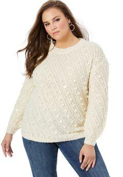 Textured Sequin Sweater,