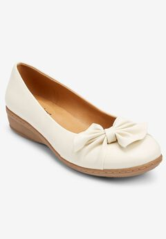 The Pamela Slip-On Flat , BONE