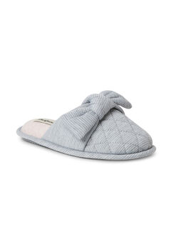 Nora Striped Scuff W/ Knot Slippers,