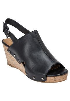 Alaya Sandals by Comfortview®, BLACK