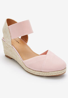 The Abra Espadrille by Comfortview®, SILVER PINK