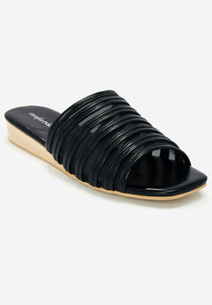 The Callista Sandal by Comfortview®, BLACK