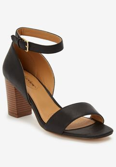 The Haven Sandal by Comfortview®, BLACK