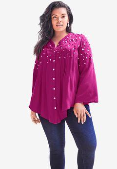 Glam-Embellished Bigshirt,