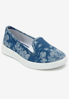 The Dottie Sneaker by Comfortview®, CHAMBRAY FLORAL