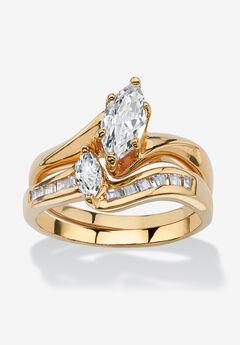 Gold-Plated Bridal Ring Set,