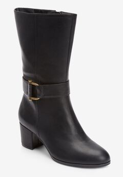 The Kenedy Wide Calf Boot , BLACK