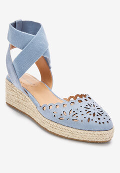 The Malia Espadrille by Comfortview®, CHAMBRAY BLUE