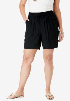 Drape Short, BLACK
