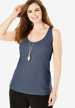 Essential Stretch Tank, NAVY