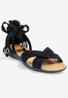 The Beckett Sandal by Comfortview®, BLACK