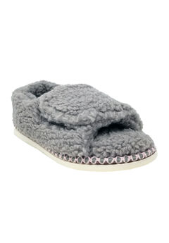 Berber Adjustable Fullfoot Open Toe Slipper,