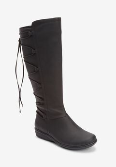 The Sailor Wide Calf Boot , BLACK