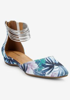 The Aylin Flat by Comfortview®, GREEN LEAF PRINT