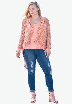 Silky Lace Trim Cami, PINK PEACH