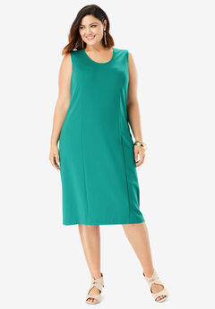 Ultimate Ponte Sheath Dress, VIVID EMERALD