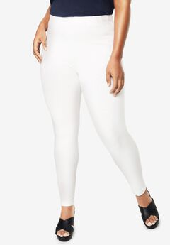 Ankle-Length Essential Stretch Legging, WHITE