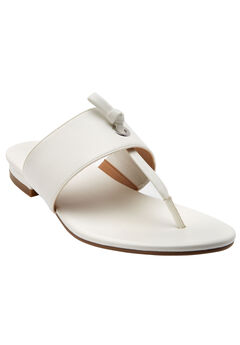 Batina Sandals by Comfortview®, WHITE