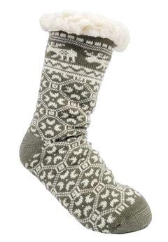 Moose Slipper Socks,