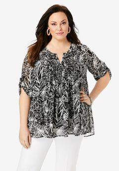Tara Pleated Bigshirt,